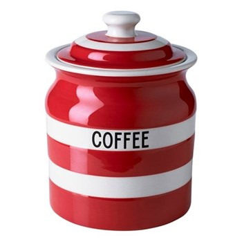 Coffee storage jar, 84cl, red
