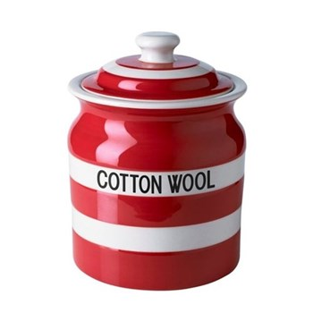 Cotton wool jar, 84cl, red