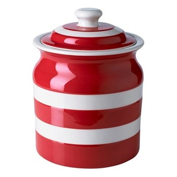 Plain storage jar, 84cl, red