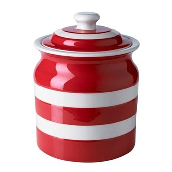 Plain large storage jar, 1.68 litre, red