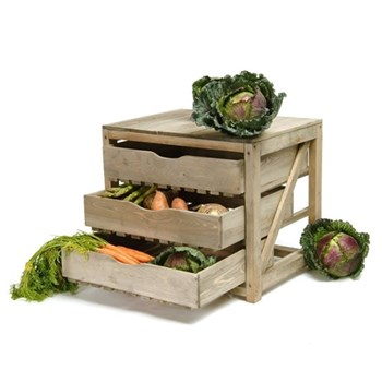 Vegetable store, 3 drawers H46 x W52 x D40cm