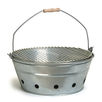Rock Barbecue, H21 x D47cm, galvanised steel