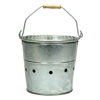Whitstable Barbeque, H30 x W33 x D33cm, galvanised steel with removable metal handle