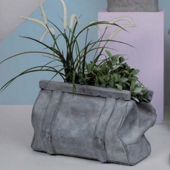 Sac Planter/pot, 38 x 24 x 24cm, concrete
