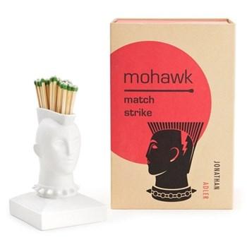 Mohawk Match strike, H10 x W7.6cm, white porcelain