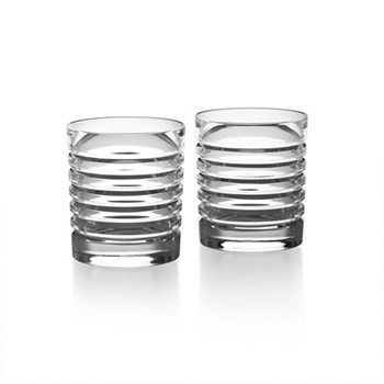 Metropolis Pair of double old fashioned tumblers, 35cl - H10.2cm, clear