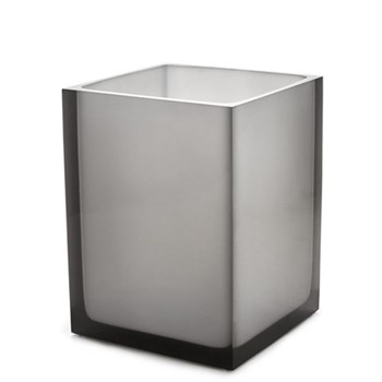 Hollywood Trash bin, W18 x D18 x 24cm, smoke lucite