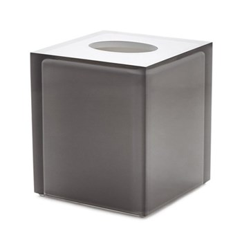 Hollywood Bath tissue box, W13 x D13 x H15cm, smoke lucite