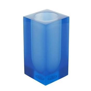 Hollywood Toothbrush holder, W6.4 x D6.4 x H13cm, blue