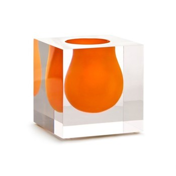 Mini Bel Air Mini scoop vase, H11 x D11cm, orange