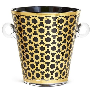 Newport Ice bucket, black/gold