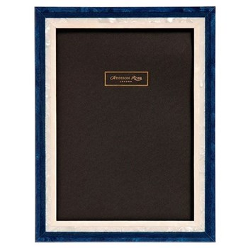 "Studio Photograph frame, 8 x 10"", blue gloss lacquer"