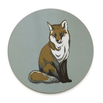 Faunus Round tablemat, 25.5cm, Fox