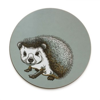 Faunus Round tablemat, 25.5cm, Hedgehog