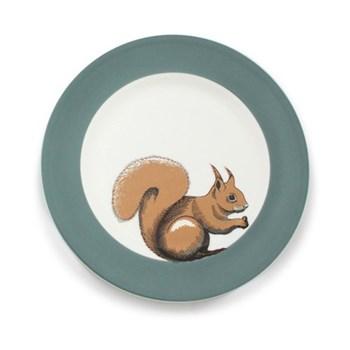 Faunus Plate, 23cm, Squirrel