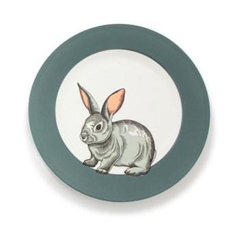 Faunus Plate, 23cm, Rabbit