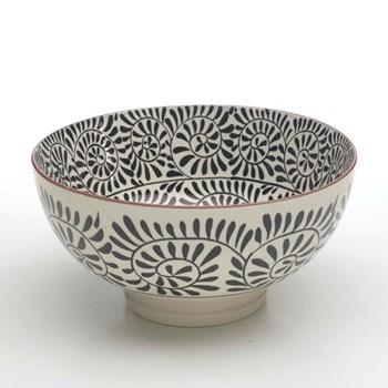 Tue Set of 6 large bowls, 20.3cm, black