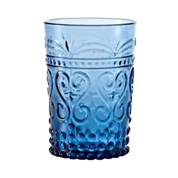 Provenzale Set of 6 straight sided tumblers, 27cl, aquamarine
