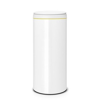 Flipbin, 30 litre - H68.5 x D29cm, white with light grey lid