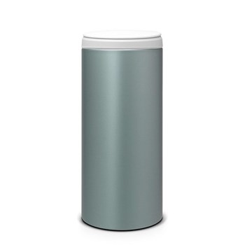 Flipbin, 30 litre - H68.5 x D29cm, metallic mint with light grey lid