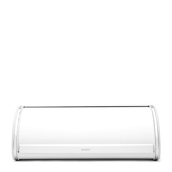 Roll Top Bread bin, H17.5 x W45 x D27cm, white