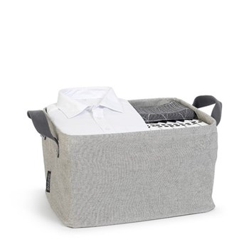 Laundry basket, foldable, grey