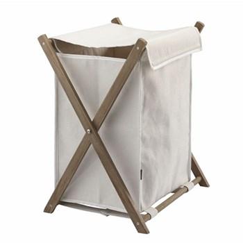 Dali Laundry bin, H61 x W46 x D37cm, ivory