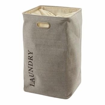 Evora Laundry basket, H70 x W40 x D40cm, flax