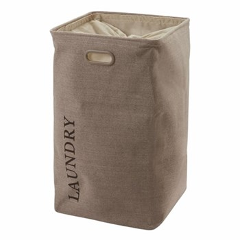 Evora Laundry basket, H70 x W40 x D40cm, taupe