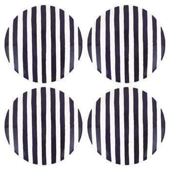 Set of 4 tidbit plates 15.2cm