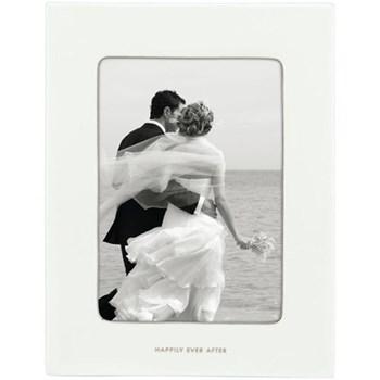 "Take the Cake Photograph frame, 5 x 7"", white china"