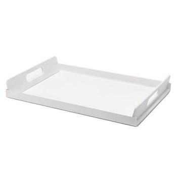 Vassily Rectangular tray, 45 x 30cm, white