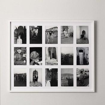 "Fine Memories Photograph frame - 15 apertures, H67 x W82cm - 5 x 7"", white"