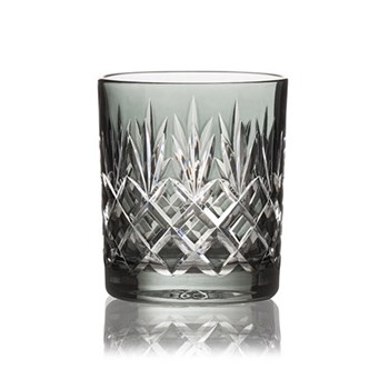 Pineapple Pair of double old fashioned tumblers, 28cl, smoke