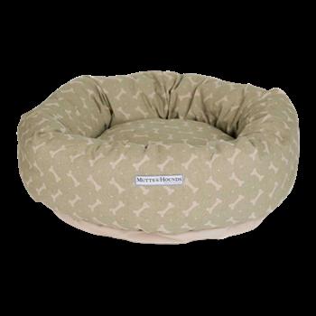 Bones Donut bed, medium, 61cm, sage