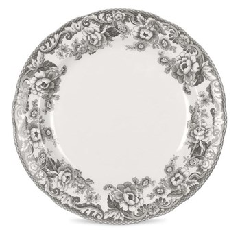 Delamere Rural Set of 4 plates, 27cm, grey