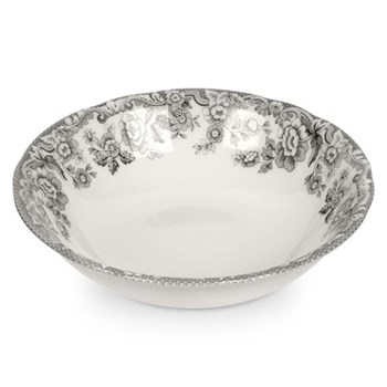 Delamere Rural Set of 4 cereal bowls, 18cm, grey