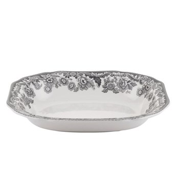 Delamere Rural Open vegetable dish, 23.5cm, grey