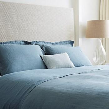 Super king size flat sheet, 300 x 270cm, Parisian blue