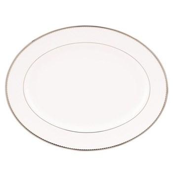 Sugar Pointe Oval platter, 33cm, platinum