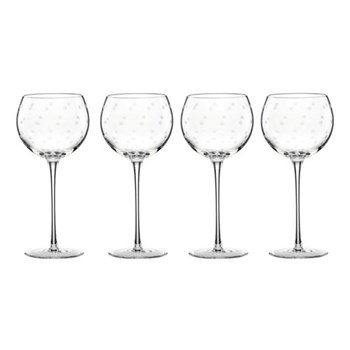 Library Stripe Set of 4 balloon wine glasses