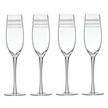 Set of 4 Champagne flutes