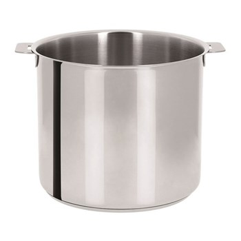 Strate Stockpot without handles, 22cm - 7.2 litre, brushed stainless steel