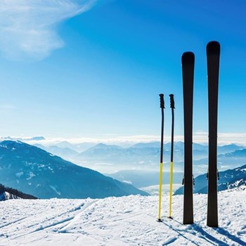 Ski hire for two