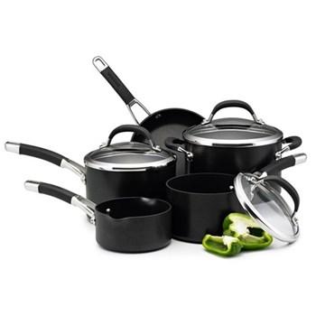 Premier Professional 5 piece pan set, heavy guage hard anodized