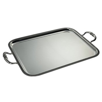 Serving tray with handles 57 x 48cm