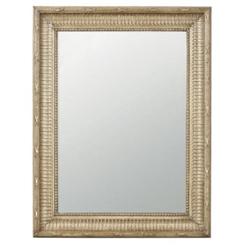 Distressed wall mirror W68 x H89cm