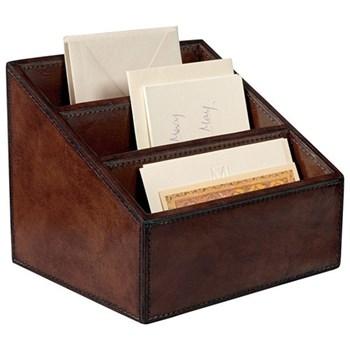 Saddle Letter rack, W21 x D18 x H17cm, leather