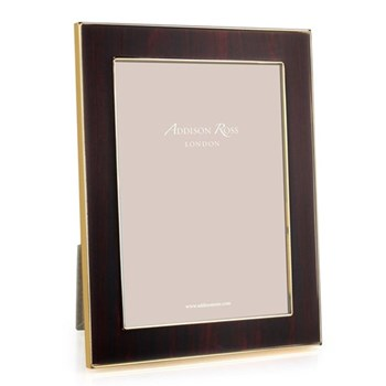 "Toscana - Midnight Photograph frame, 5 x 7"", enamelled ebony with gold plate"