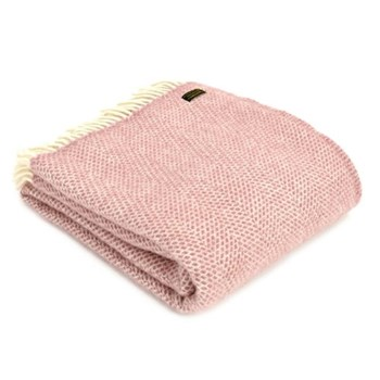 Beehive Throw, 150 x 183cm, dusky pink